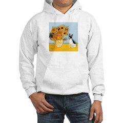 Sunflowers / Rat Terrier Hooded Sweatshirt
