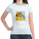 Sunflowers / Rat Terrier Jr. Ringer T-Shirt
