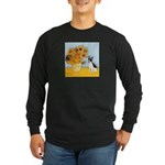 Sunflowers / Rat Terrier Long Sleeve Dark T-Shirt