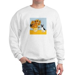 Sunflowers / Rat Terrier Sweatshirt