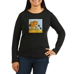 Sunflowers / Rat Terrier Women's Long Sleeve Dark