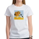 Sunflowers / Rat Terrier Women's T-Shirt