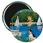 Sailboats / Rat Terrier Magnet