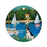 Sailboats / Rat Terrier Ornament (Round)