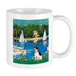 Sailboats / Rat Terrier Mug