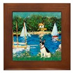 Sailboats / Rat Terrier Framed Tile