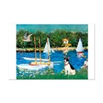 Sailboats / Rat Terrier Mini Poster Print