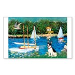 Sailboats / Rat Terrier Sticker (Rectangle)