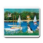 Sailboats / Rat Terrier Mousepad