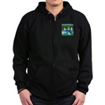 Sailboats / Rat Terrier Zip Hoodie (dark)