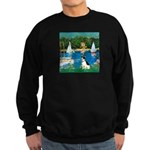 Sailboats / Rat Terrier Sweatshirt (dark)