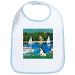 Sailboats / Rat Terrier Bib