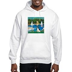 Sailboats / Rat Terrier Hooded Sweatshirt
