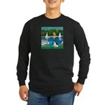 Sailboats / Rat Terrier Long Sleeve Dark T-Shirt