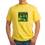 Sailboats / Rat Terrier Yellow T-Shirt