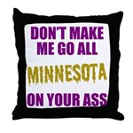 Minnesota Football Throw Pillow
