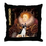 Queen / Rat Terrier Throw Pillow