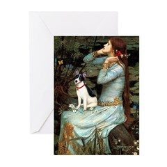 Ophelia / Rat Terrier Greeting Cards (Pk of 10)