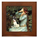 Ophelia / Rat Terrier Framed Tile