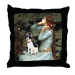 Ophelia / Rat Terrier Throw Pillow