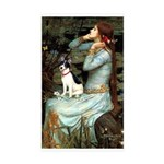 Ophelia / Rat Terrier Sticker (Rectangle 50 pk)