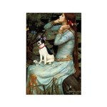 Ophelia / Rat Terrier Rectangle Magnet