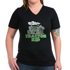 Green Tractor Kid Shirt