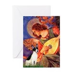 Mandolin / Rat Terrier Greeting Card
