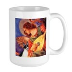 Mandolin / Rat Terrier Large Mug