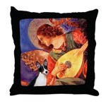 Mandolin / Rat Terrier Throw Pillow