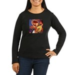 Mandolin / Rat Terrier Women's Long Sleeve Dark T-