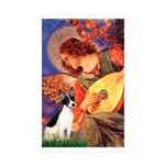 Mandolin / Rat Terrier Sticker (Rectangle 50 pk)