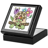 Springtime Turtle Keepsake Box