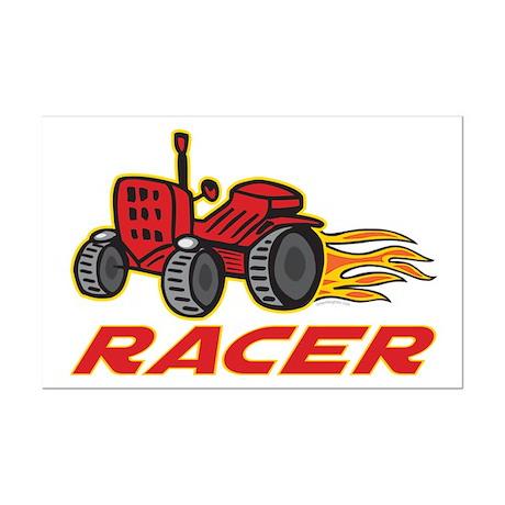 Tractor Racing Mini Poster Print