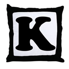 Large Letter K Throw Pillow