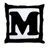 Large Letter M Throw Pillow
