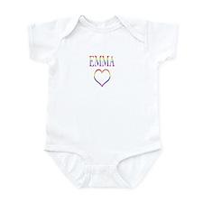 Emma - Rainbow Heart Infant Bodysuit