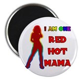 "Red Hot Mama 2.25"" Magnet (100 pack)"