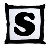 Large Letter S Throw Pillow