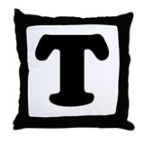 Large Letter T Throw Pillow