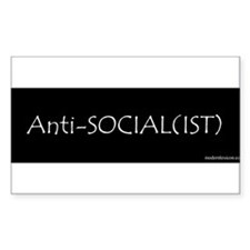 Anti-Social(ist) Rectangle Decal
