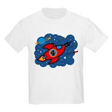 Rocket Ship 4th Birthday T-Shirt