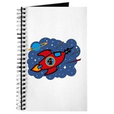 Rocket Ship 4th Birthday Journal