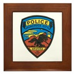 Huachuca City Police Framed Tile