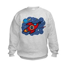 Rocket Ship 6th Birthday Sweatshirt