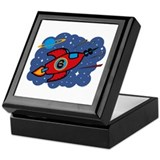 Rocket Ship 6th Birthday Keepsake Box