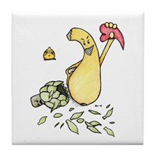 Squash with heart Tile Coaster