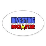 """Investing Rock Star"" Oval Sticker (10 pk)"