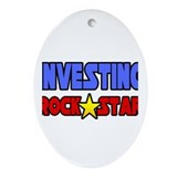"""Investing Rock Star"" Oval Ornament"
