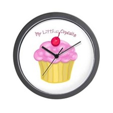 My Little Cupcake Wall Clock